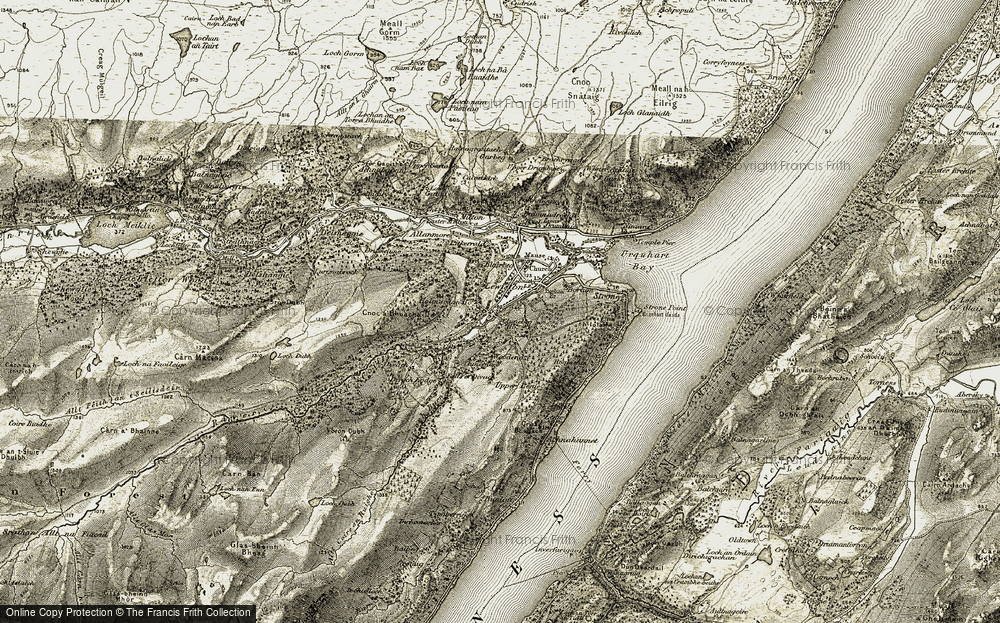 Old Map of Lewiston, 1908-1912 in 1908-1912
