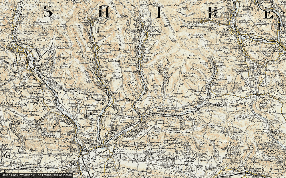 Old Map of Lewistown, 1899-1900 in 1899-1900