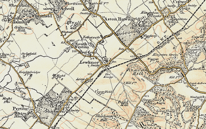 Old map of Aston Rowant National Nature Reserve in 1897-1898