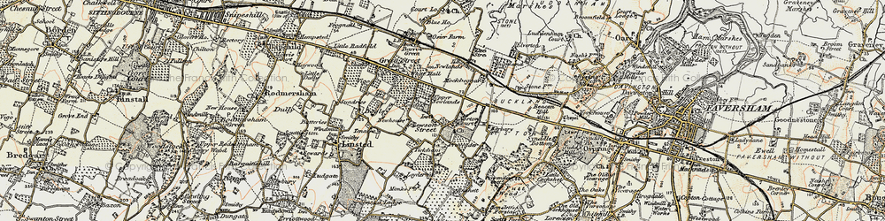 Old map of Lewson Street in 1897-1898