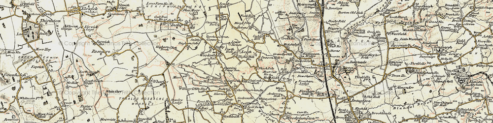 Old map of Lewth in 1903-1904