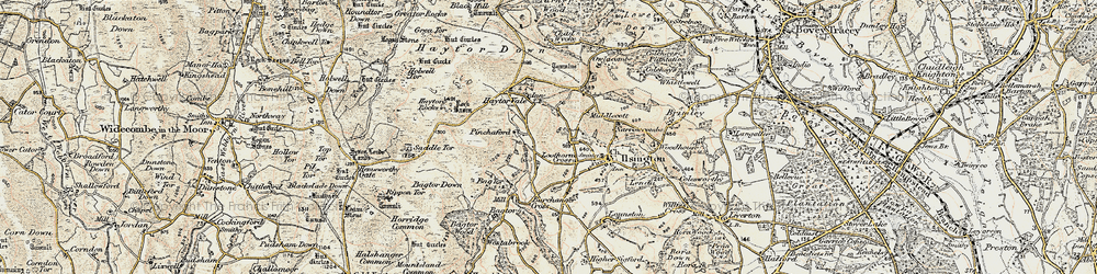 Old map of Lewthorn Cross in 1899-1900