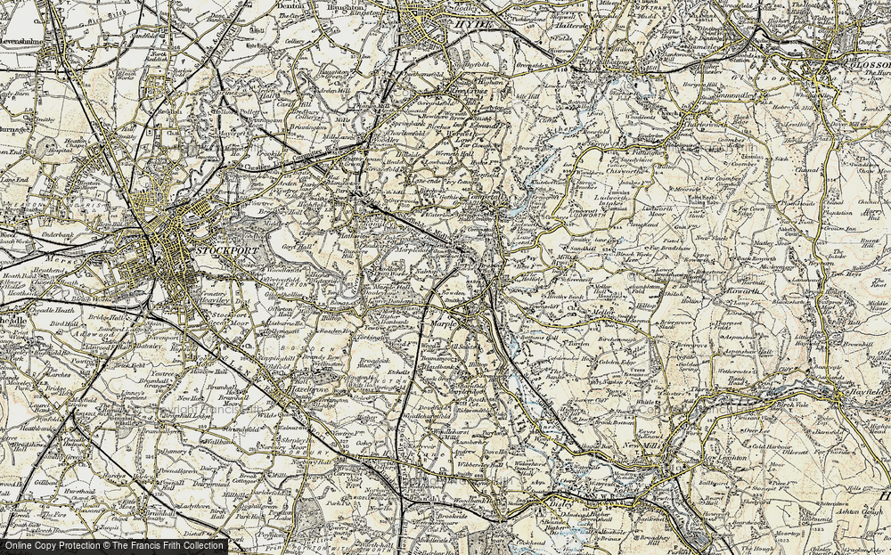 Old Map of Ley Hey Park, 1903 in 1903