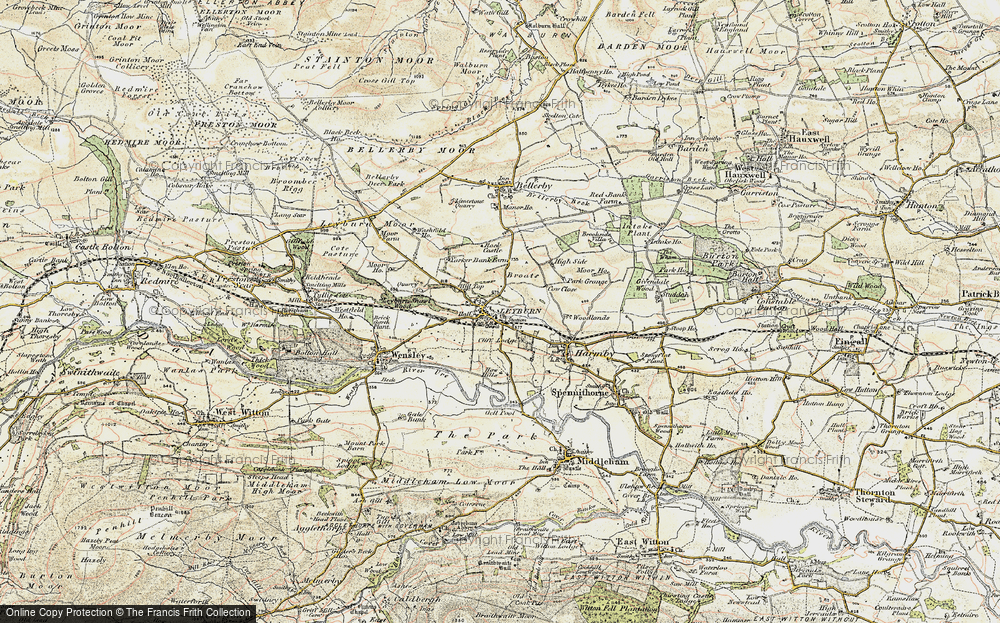 Old Map of Historic Map covering Woodlands in 1904