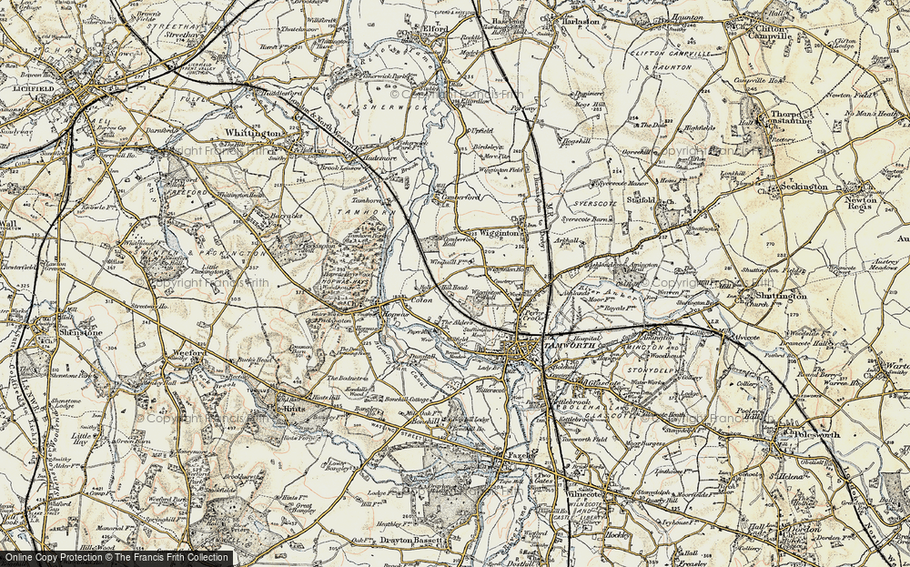 Old Map of Leyfields, 1901-1902 in 1901-1902