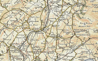 Old map of Leys in 1901-1904
