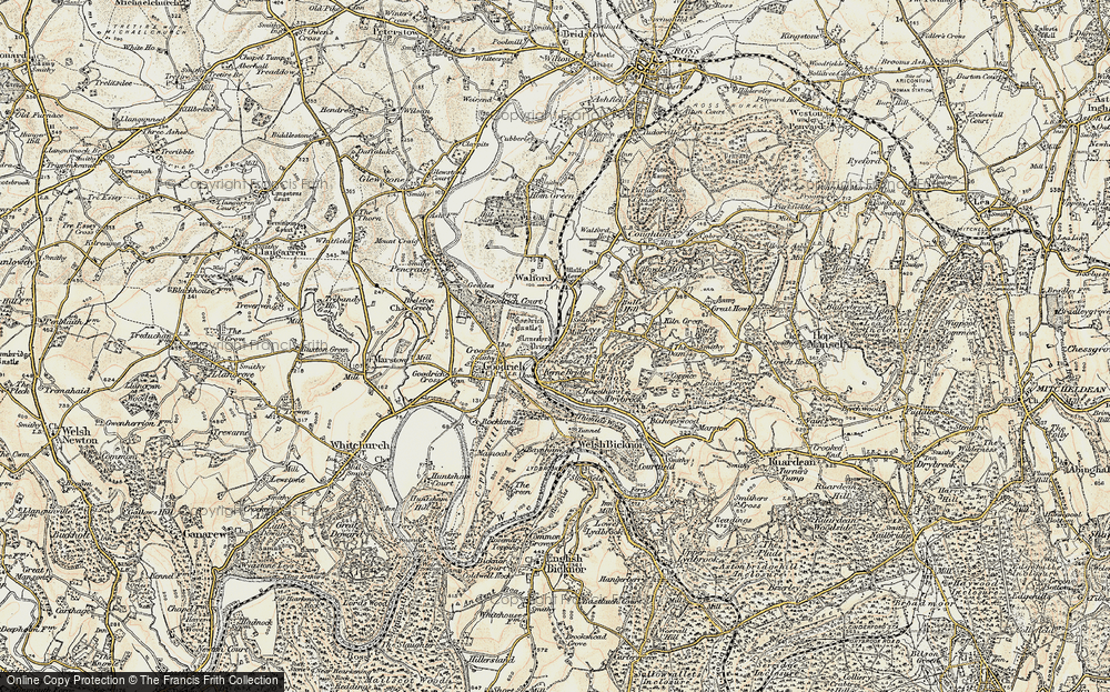 Old Map of Leys Hill, 1899-1900 in 1899-1900