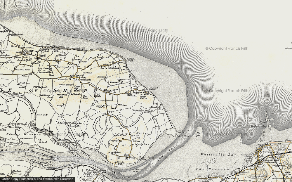 Old Map of Leysdown-on-Sea, 1897-1898 in 1897-1898