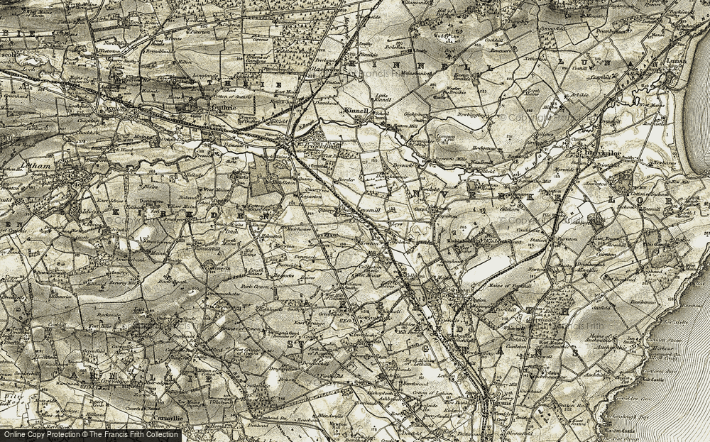 Old Map of Leysmill, 1907-1908 in 1907-1908