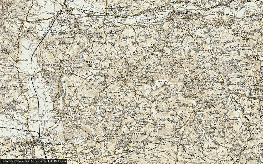 Old Map of Leysters, 1899-1902 in 1899-1902
