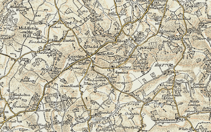 Old map of Weston Fm in 1899-1902