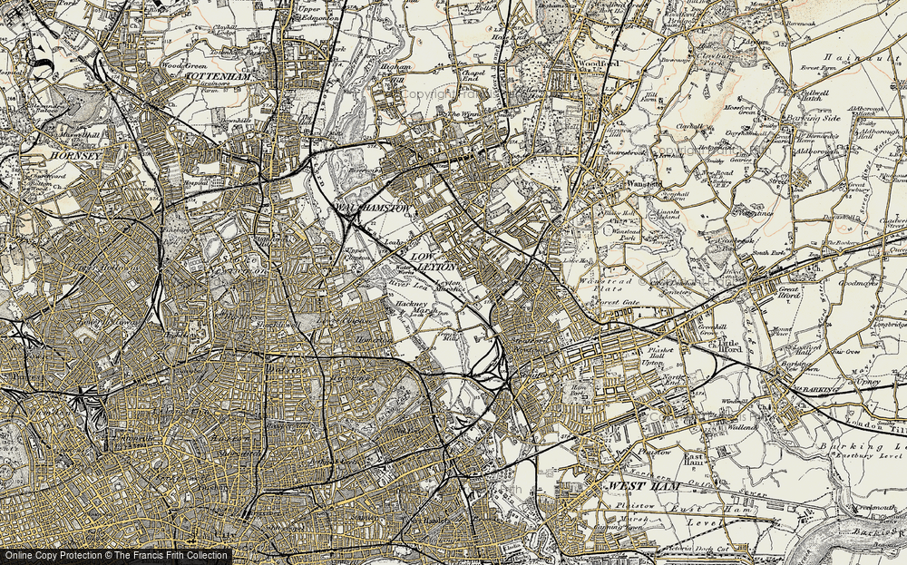 Old Map of Leyton, 1897-1898 in 1897-1898