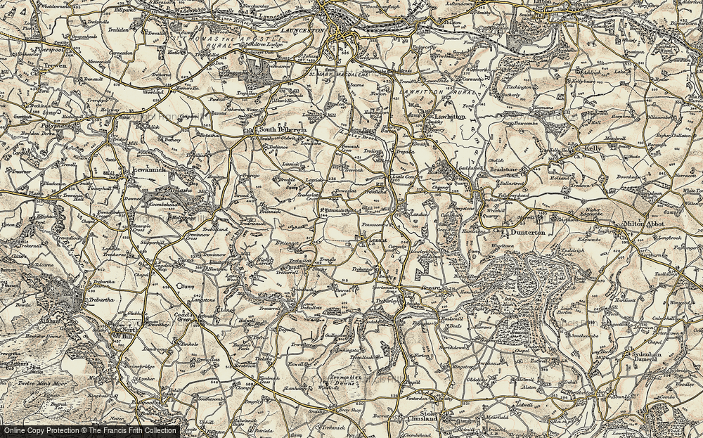Old Map of Historic Map covering Larrick in 1899-1900