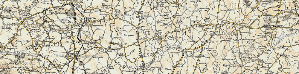 Old map of Lezerea in 1900