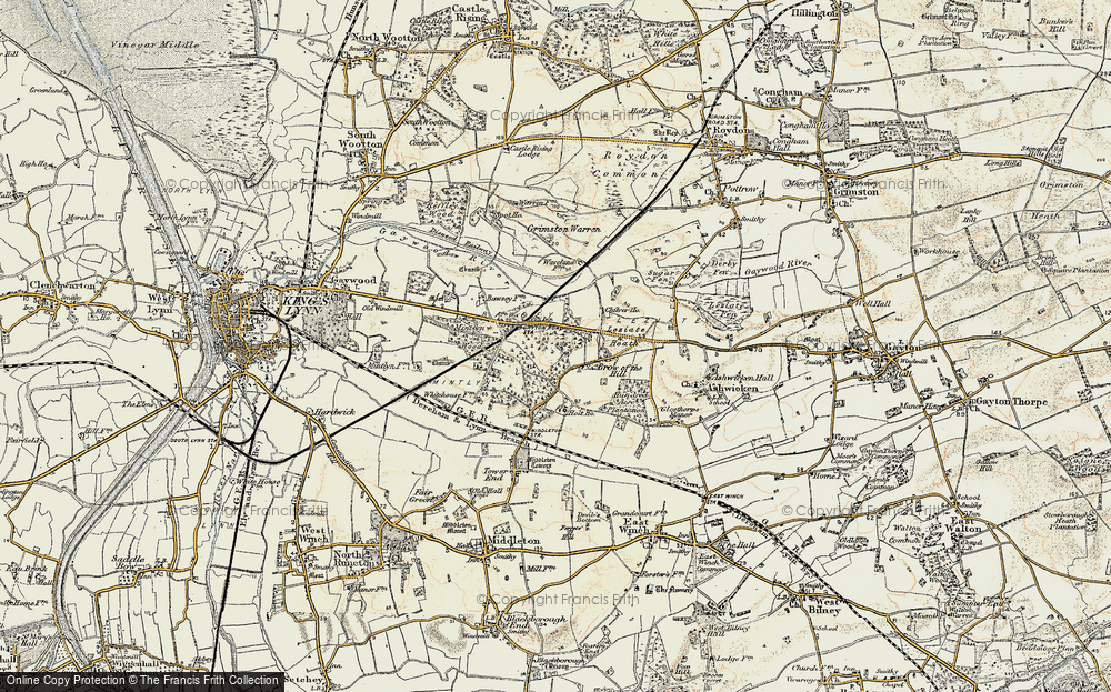 Old Map of Leziate, 1901-1902 in 1901-1902