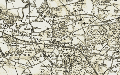 Old map of Woodpark in 1910-1911