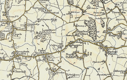 Old map of Libbery in 1899-1902
