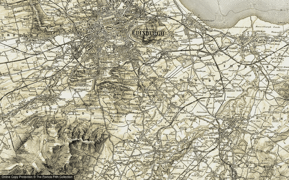 Old Map of Historic Map covering Liberton Ho in 1903-1904