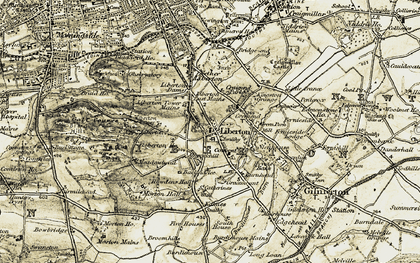 Old map of Liberton Ho in 1903-1904