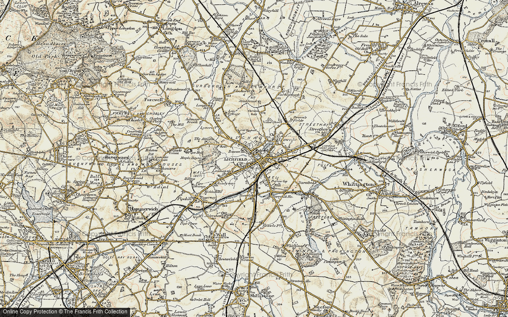 Old Map of Lichfield, 1902 in 1902