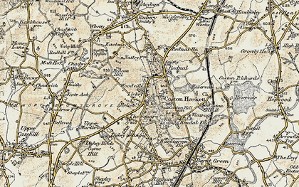 Old map of Lickey Hills in 1901-1902