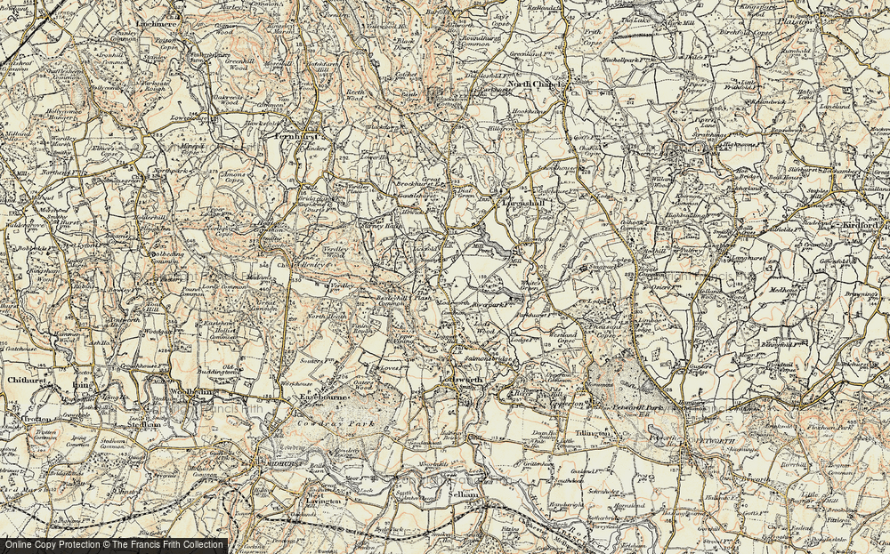 Old Map of Lickfold, 1897-1900 in 1897-1900