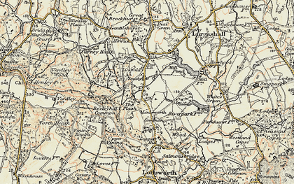 Old map of Lickfold in 1897-1900