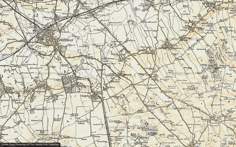 Old Map of Liddington, 1897-1899 in 1897-1899