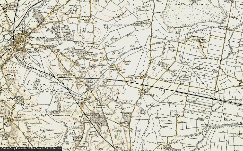 Old Map of Lidget, 1903 in 1903