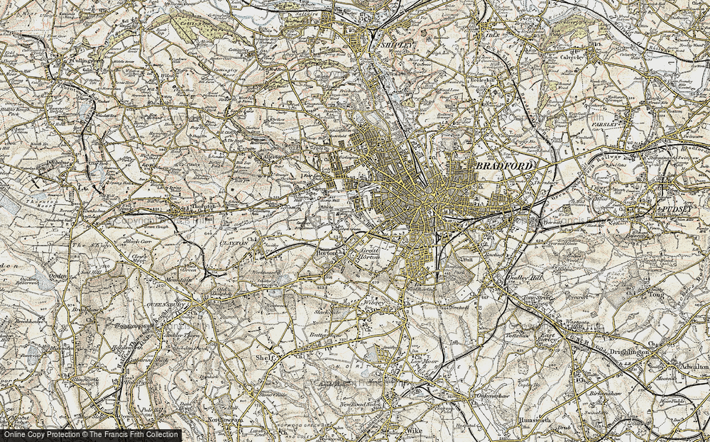 Old Map of Lidget Green, 1903 in 1903