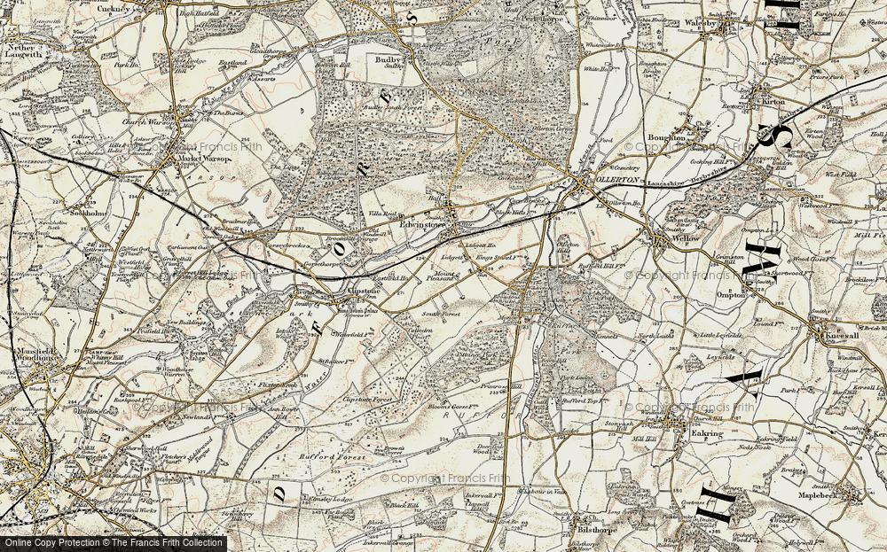 Old Map of Lidgett, 1902-1903 in 1902-1903