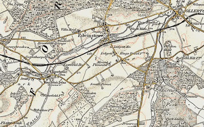 Old map of Amen Corner in 1902-1903