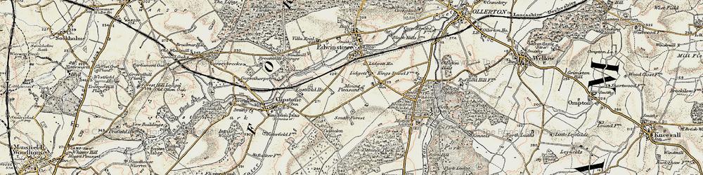 Old map of Amen Corner in 1902-1903