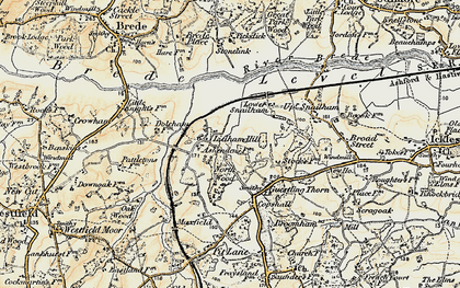 Old map of Ashenden in 1898