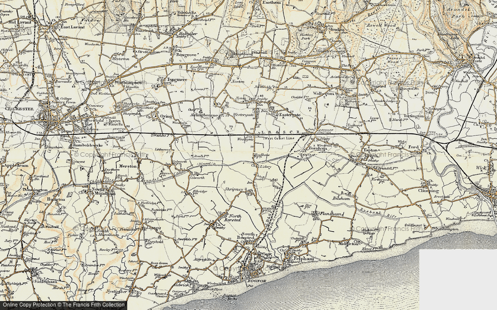 Old Map of Lidsey, 1897-1899 in 1897-1899