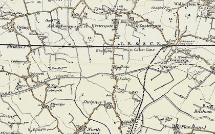 Old map of Lidsey in 1897-1899