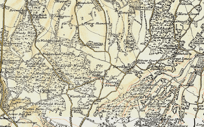 Old map of Lidsing in 1897-1898