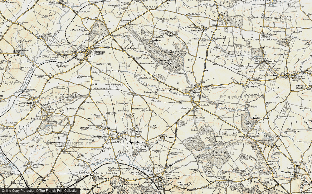 Old Map of Lidstone, 1898-1899 in 1898-1899