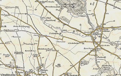 Old map of Lidstone in 1898-1899