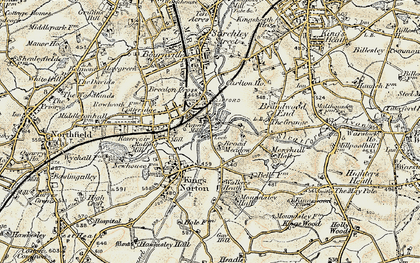 Old map of Lifford in 1901-1902