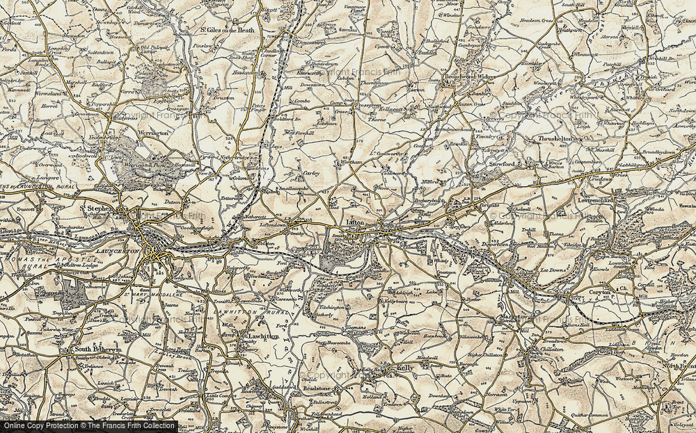 Old Map of Lifton, 1899-1900 in 1899-1900