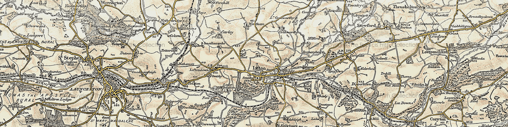 Old map of Lifton Park in 1899-1900