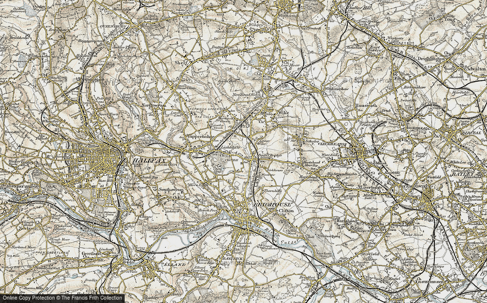 Old Map of Lightcliffe, 1903 in 1903