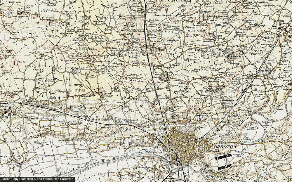 Old Map of Lightfoot Green, 1903 in 1903
