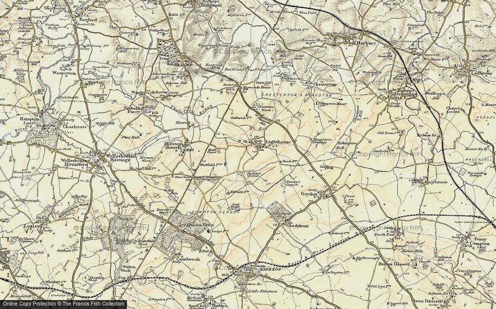 Old Map of Lighthorne, 1898-1902 in 1898-1902