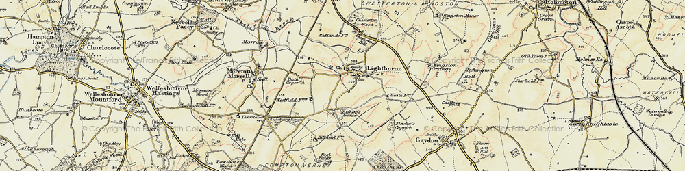Old map of Lighthorne in 1898-1902