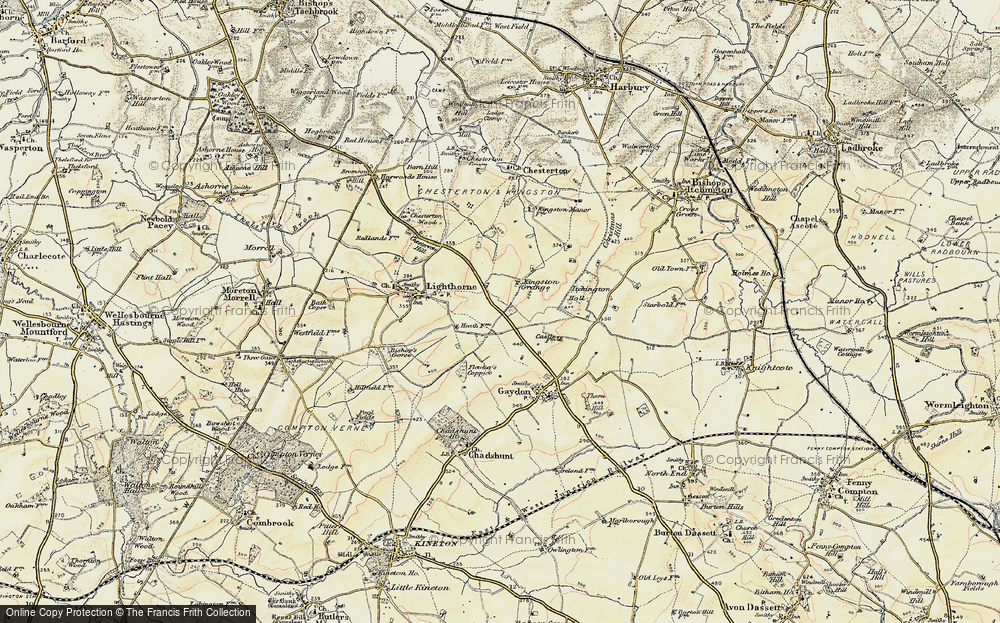 Old Map of Lighthorne Heath, 1898-1902 in 1898-1902