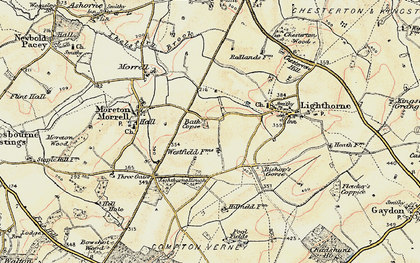 Old map of Lighthorne Rough in 1898-1902