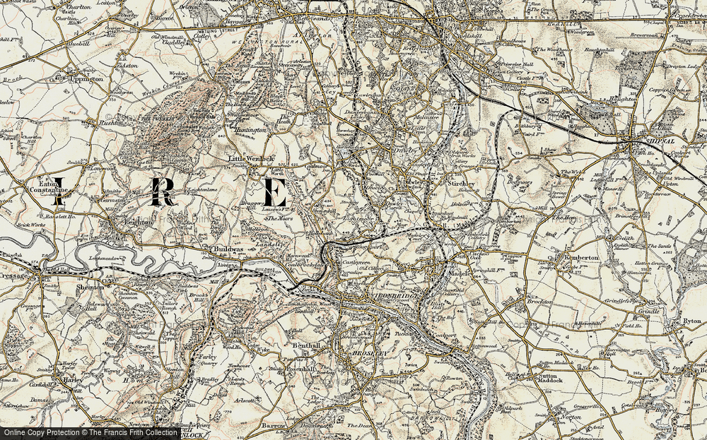 Old Map of Lightmoor, 1902 in 1902