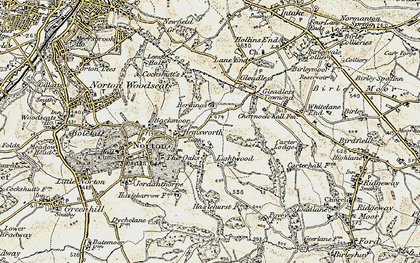 Old map of Lightwood in 1902-1903